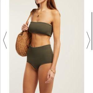 Marysia's khaki-green Corsica bikini